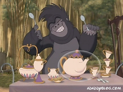 Mrs Potts and Chip Cameo in Tarzan