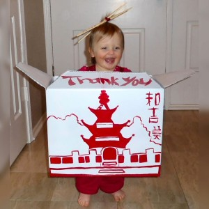 Our daughter's Chinese Takeout Halloween Costume