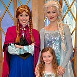 Our Daughter with Anna and Elsa of Disney's Frozen