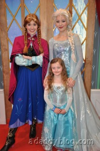 Our Daughter with Anna and Elsa of Disney's Movie Frozen