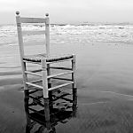 chair alone on the beach - 150x150