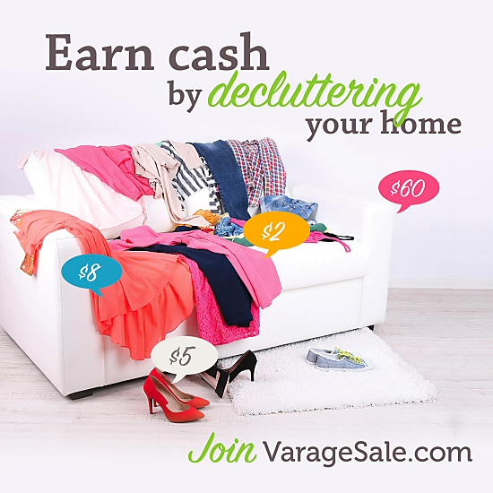 Earn Cash Decluttering Your Home on VarageSale
