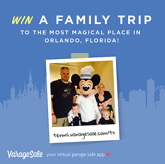 Win a free trip to Walt Disney World from VarageSale