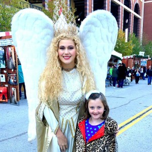 Our Daughter with the Angel at Texas Christkindl Market 2015