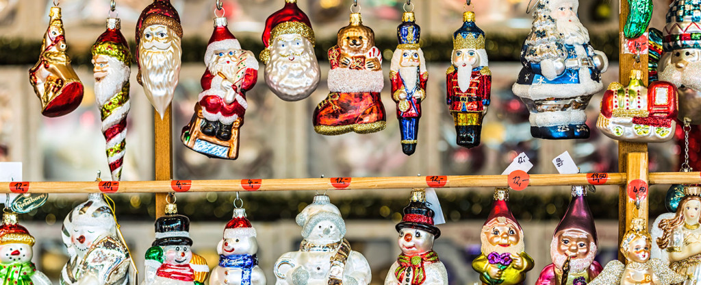 Ornaments for sale at Texas Christkindl Market in Arlington, Texas
