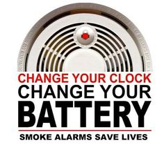 change your smoke detector batteries