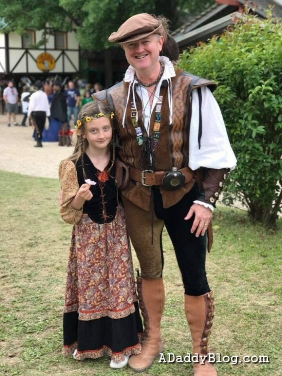 My Daughter and I at Scarborough Renaissance Festival