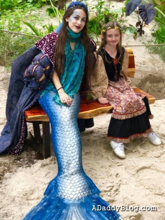 Did I mention that there are real fairies and mermaids at Strolling the shoppes of Scarborough Renaissance Festival?