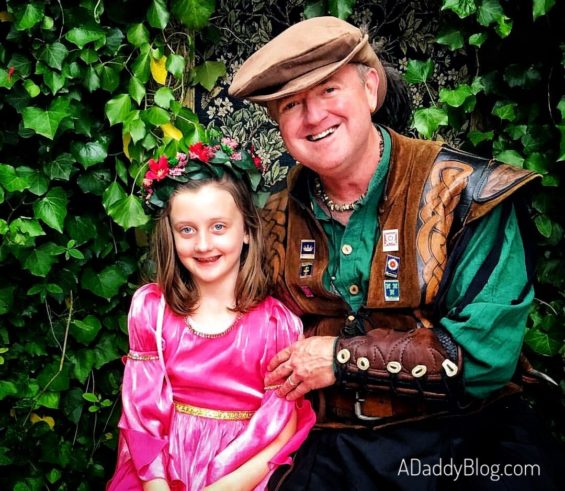 My daughter and I at Scarborough Renaissance Festival in Dallas Fort Worth